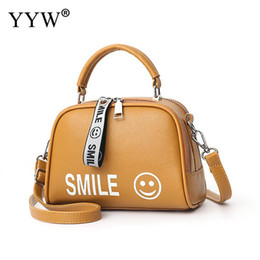 d84337464a Top hobo bags online shopping - High Quality Leather Handbag For Women  Smile Face Top Handle