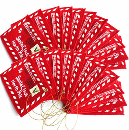 $enCountryForm.capitalKeyWord UK - Christmas Envelopes Tree Hanging Candies Cards Decorations Goods Letter To Santa Claus Felt Embroidery Ornament Red 1 1gm dd