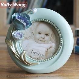 Family Frames Canada - Sully Wong Free Shipping 2017 Resin Three-dimensional flower Frame for Family and Children photo Frame Home Decor accessories