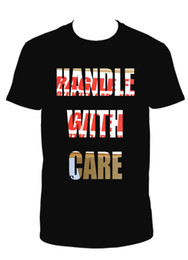 mens care 2018 - HANDLE WITH CARE BLACK CREW NECK SHORT SLEEVE TSHIRT Mens 2018 fashion Brand T Shirt O-Neck 100%cotton cheap mens care