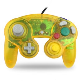 Chinese  Wired Game Controller Gamepad for NGC Console Gamecube Wii Gaming Joystick Extension Cable Cord Vibration Translucent Color DHL manufacturers