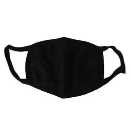 Vente en gros 500pcs noir coton bouche masque coton anti poussière protection double Kpop masque lavable plusieurs fois à l'aide de masques