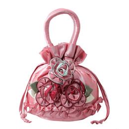 $enCountryForm.capitalKeyWord UK - New Women Embroidered Flower Silk Satin Purse Coin Wallet Gift Small Handbag Bag Drawstring Open Shoulder Bag