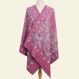 Big Tassel Scarves UK - Winter New Scarves Women Artificial Cashmere Shawls Chinese Style Jacquard Wrap Shawl Warm Wrap  Tassels Big Size Scarf