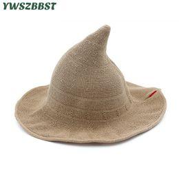 Large brim summer hats online shopping - New Summer Women Sun Hats Fashion Steeple Witch Hat Women Bucket Cap Wide Large Brim Anti UV Sun Cap Female Fisherman Hat