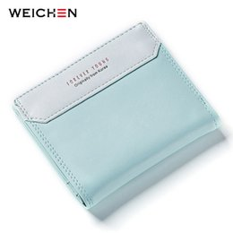WEICHEN Korean Hasp Short Simple Wallets Women PU Fresh Wallet Photo Card Holder Brand Designer Preppy Style Girls Money Purse