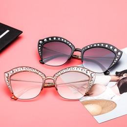 f36a57aa05 Sexy eye lenS online shopping - Cat Eye Sunglasses Women Rhinestone Half Frame  Sexy Sun Glasses