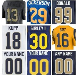 32ccfe11e 2019 Los Angeles Todd Gurley II Ram jersey Jared Goff Eric Dickerson  american football jerseys Nick Foles elite game men womens youth cheap