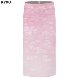 7db5226b4dd KYKU цветок юбки женщины розовый Harajuku карандаш Юбки сексуальные  красивые 3d печатных колен аниме дамы женские 2018 Новый