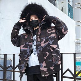 Camouflage dropshipping online shopping - Camouflage Parka Men Winter Fur Jackets Cotton Chaquetas Hombre Parkas Mens Outerwear Mens Jackets and Coats DropShipping