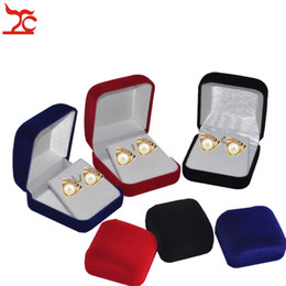 $enCountryForm.capitalKeyWord Australia - Wholesale 60Pcs Lot Jewelry Display Box Red Black Blue Blocked Earring Jewelry Organizer Box Pendant Package Storage Gift Box 6*5.5*3.3CM0