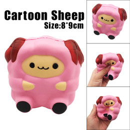 soft toy sheep wholesale Canada - Cartoon Cute Sheep Squishy Slow Rising Cream Scented Decompression Toy Cure Gift Slow Rising Soft Decompression Fun Toys Relax