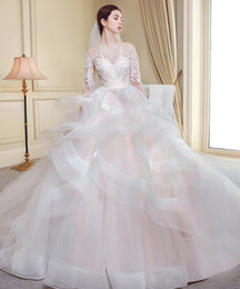 Customized Skirts NZ - Hollow Back Embroidery Elegant Swan Ball Gown Wedding Dress Skirt Length Can Be Customized All Color And Size