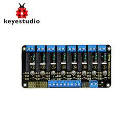 $enCountryForm.capitalKeyWord NZ - Keyestudio 5V 2A 8- Channel Solid State Relay Module High Level Trigger Black for Arduino Uno MEGA2560 MEGA1280 ARM DSP PIC