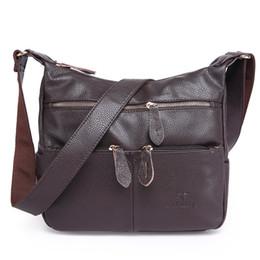 Black Leather Bags Women S Handbags Canada - 2017 Fashion Women Messenger Bags Composite Genuine Leather Women 'S Handbag Women Bag Vintage Ladies Tote Crossbody Shoulder Bag
