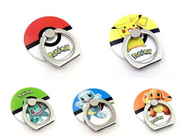 ring for mobile phone 2019 - New Cartoon Go Pikachu Finger Ring Phone Holder Ball Mobile Phone Stents for iPhone Samsung all Smart Phone cheap ring f