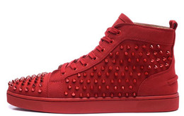 Winter nails online shopping - 2017 Luxury Designer Spikes Red Bottoms Sneakers Fashionable Black and White Arrange To Have Water Droplets Shape Nail Shoes Louisflats