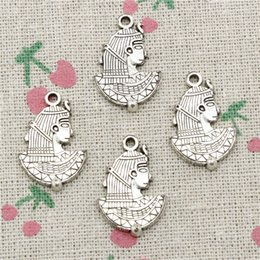 Egypt Pendants Australia - 59pcs Charms egypt cleopatra 24*16mm Tibetan Silver Vintage Pendants For Jewelry Making DIY Bracelet Necklace