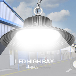 Vente en gros LED haute baie Lumière 50W 100W 150W 200W UFO 6000K 20000Lm IP65 AC85-265V LED Lumière d'inondation Aluminium Mining Highbay lampe