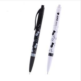 $enCountryForm.capitalKeyWord UK - 2PCS Hot Sale Stationery Pens 0.7mm Blue Ink Ballpoint Pens School Office Supplies Flexible Cute Cat Ball Pens