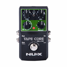 pedal tone UK - NEW NUX Tape Core Deluxe Tape Echo Delay Effects Pedal Classic Tape Echo Tone 7 delay Modes guitar pedal free shipping