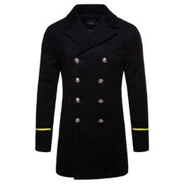 85d3fd30da4 Winter Warm Mens Trench Coats Imported European And American Mens Brand  Clothing Streetwear Woolen Coats Windbreaker B020