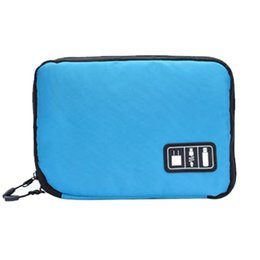 Red Flash Drive UK - Electronic Accessories Organizers Bags For Earphone Cables USB Hard Flash Drives Travel Case Digital Bag