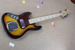 $enCountryForm.capitalKeyWord Australia - Free shipping New banjo left-handed electric bass guitar JAZZ BASS sunset color electric guitar