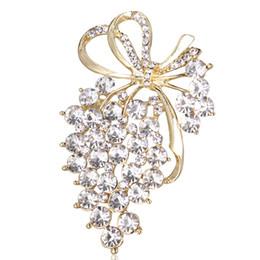 $enCountryForm.capitalKeyWord UK - 2018 New Grapes Brooches Gold Color Crystal Brooch Rhinestone For Wedding Bridal Dresses Hijab Clip Scarf Buckle Pins