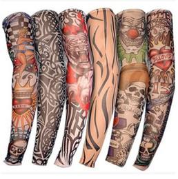 venda por atacado Manga Homens e Mulheres Nylon Tatto Temporária Meias de Braço Oversleeves Falske Tattoo Sleeves