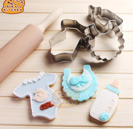 sugar cookies cutter Australia - Baby Clothing Pattern Stainless Mould Sets Cookie Cutter Fondant Sugar Cake Decorating Tools Biscuit Moldes Kitchen Accessories