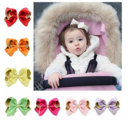 Hair Color Edges Australia - Double color big bowknot stereo solid bow for baby kids cloth hair clip edge clips party birthday gifts