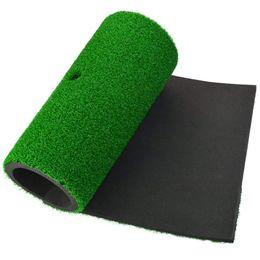 Indoor golf green online shopping - Golf Hitting Mat x30cm Practice Rubber Tee Holder Eco friendly Green Golf Hitting Mat Indoor Backyard Training Pad