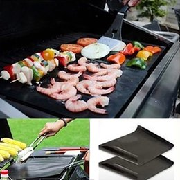 2018 extra packs Non-stick Teflon BBQ Grill Mat Extra Thick Thermostability Grilling Sheet FDA teflon baking mat BBQ Bakeware Tool COlor