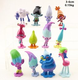Discount ugly toys - 12pcs set Trolls Ugly Princess Babies PVC Figures Blanche cakes decorations dolls children toys gifts Brinquedos Novelty