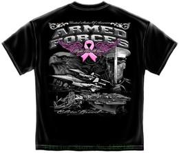 d39e719ddb Camisa militar de T Elite Camuflagem Forças Armadas Luta Câncer Preto camiseta  de Manga Curta Mens