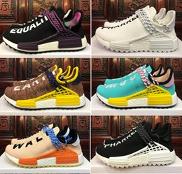 1f515f731 2018 new high quality free shipping Human Race trail NERD kids Running  Shoes noble ink core Black Red run Shoes men women
