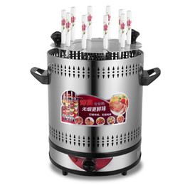 China Household Energy-saving Electric Grill Smokeless Automatic Rotation Machine 8 Skewers Electric Vertical Barbecue Grill cheap electric vertical suppliers