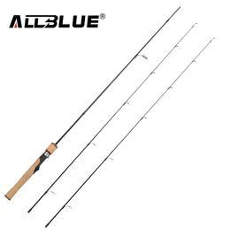 Discount carbon lights - ALLBLUE Viking Spinning Rod UL L 2 Tips 1.68m Ultralight 1 32-1 4oz 2-8LB Carbon Soft Fishing Rod pesca peche Fishing Ta