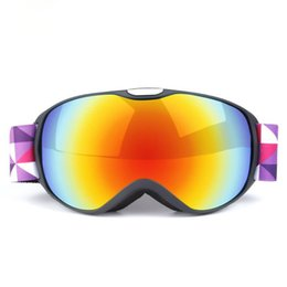 Frame Goggles Ski UK - SPEIKE Kids Outdoors Sports Eyewear H018 double-deck skiing Gogges Prevent mist wind proof goggles PC lens UV-400