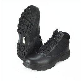 army combat boots men 2019 - New US Military leather boots for men Combat bot Infantry tactical boots bot army army shoes Outdoor hiking boots discou