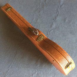 Опт Новый стиль, высококачественные пользовательские LP стандартный электрический гитарный корпус, коричневая кожа с красной подкладкой, бесплатная доставка