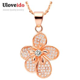 $enCountryForm.capitalKeyWord Australia - Silver Long Chain Necklace for Women Pendant Female Rose Gold Plated Flower Vintage Jewelry Collier Femme N504