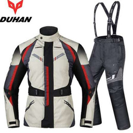 $enCountryForm.capitalKeyWord Australia - Free shipping 1set Autumn Winter Clothing Suit Waterproof Cold-proof Warm Cordura Textile Body Armor Motorcycle Jacket and Pants