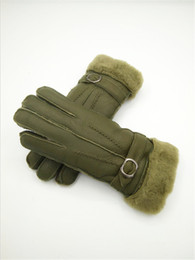 Leather Wrist Gloves Australia - Free Shipping -Hot Classic women Winter Gloves Wool Gloves Fashion Genuine Leather Gloves Anti-cold anti-freeze windproof