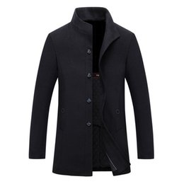 86c5064449dbe new winter wool long coat men warm black business overcoat mens Stylish woolen  jacket stand collar single breasted woolen coat
