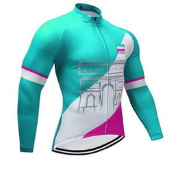 Clothes Worn Mountains Australia - TOUR DE FRANCE team Cycling long Sleeves jersey 100% Polyester Quick-Dry Cycle Clothes Mountain Bicycle Wear 2019 U53043