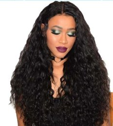 Full Lace Wig Curly 6a UK - 2018 6a 100% unprocessed remy virgin human hair natural color long kinky curly full lace wig for women