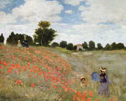 classical paintings women NZ - Claude Monet Women in Red Poppy Field Handpainted & HD Print Landscape Art Oil Painting On Canvas Home Deco Wall Art Multi Sizes p287