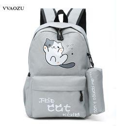 6df44102528e Anime Japan Neko Atsume Cat Backyard Cartoon Canvas Travel Shoulder Bag  Schoolbag Backpack Rucksacks for Teenagers Boys Girls Y1890401